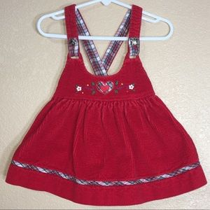 Other - Toddler girl red corduroy overall dress size 2T
